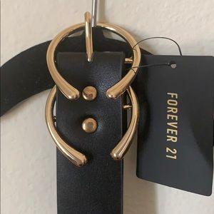 Forever 21 Gold Ring Black Belt